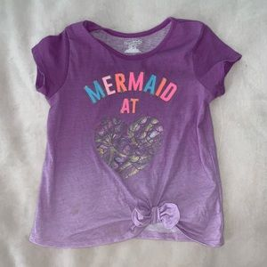 Garanimals Ombre Crop Tie Tee Mermaid Print